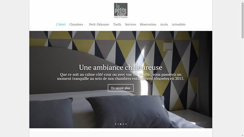 Site internet de l'Hôtel de la Petite Cour